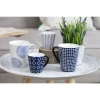 """Geometric Blue"" 6 espresso puodeliai"
