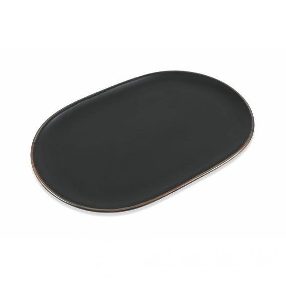 """""""Cala Dorada"""" didelė juoda ovalo formos lėkštė"""