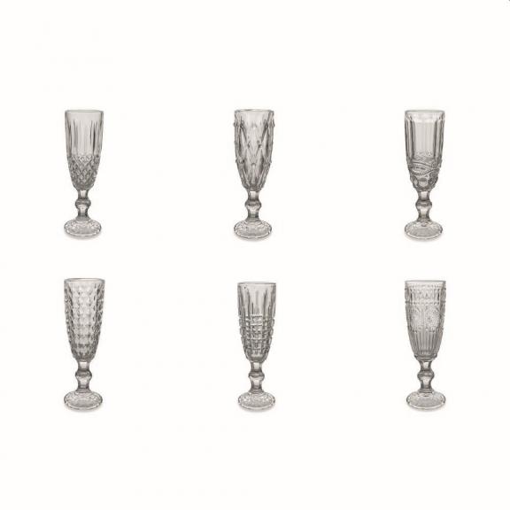 """""""Geometric"""" 6 šampano taurės"""