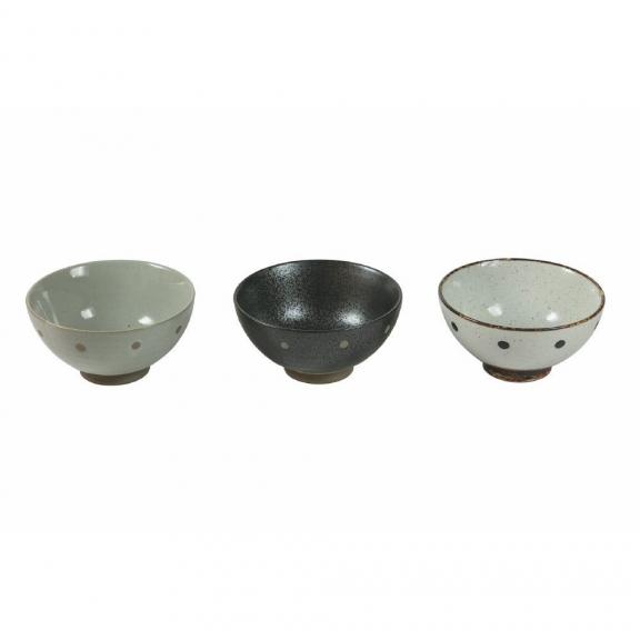 """Trys """"Oriental Tradition"""" porceliano dubenėliai su taškučiais"""